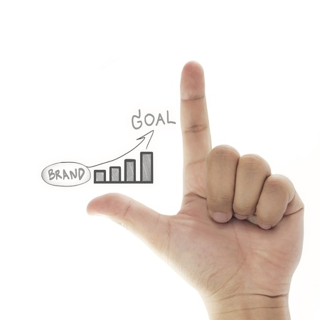 vision of building brand to goal (business success) Stock Photo - 10161316