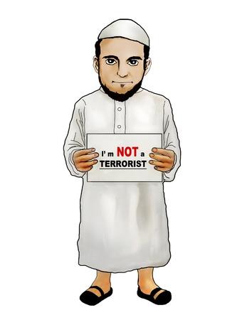 De islam is een religie van vrede, geen terrorisme
