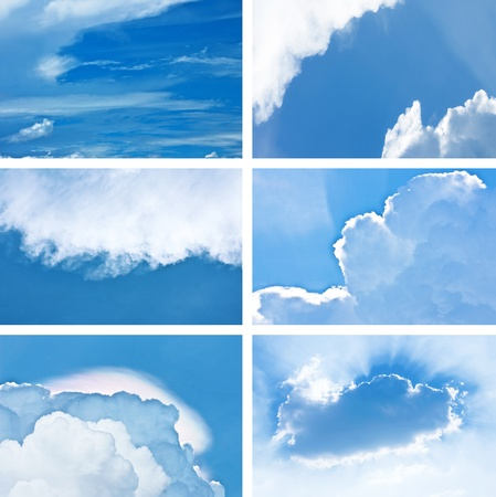 compilation: compilation of beautiful blue sky