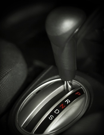close up auto gear box inside a car Zdjęcie Seryjne