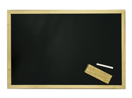 chalkboard over white background (education concept) photo