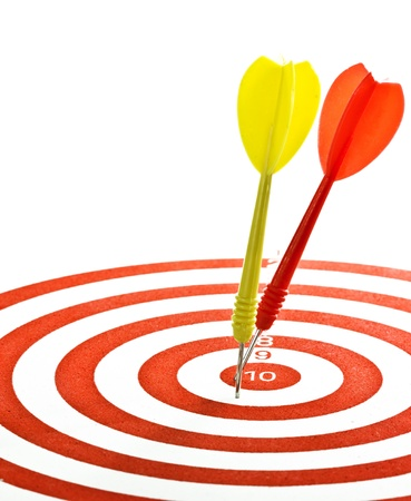 darts (rivals in the competitive business for the goal) Stock Photo - 10866709