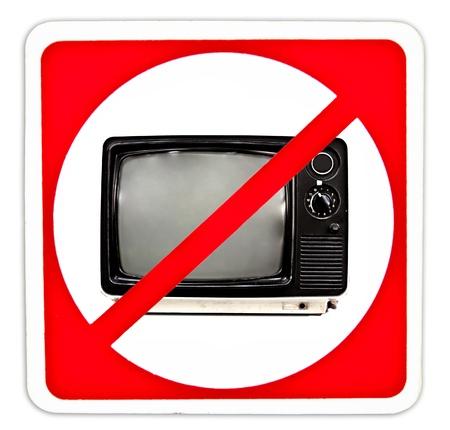 Niet in de tv te kijken Stockfoto - 10866708