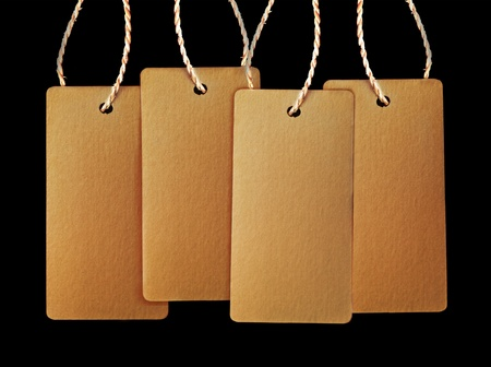 price tags isolated on black background Stock Photo - 10902308