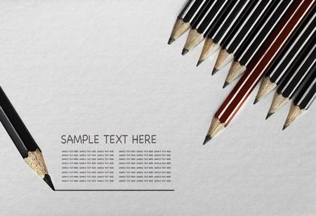 underline: pencils with underline over texture of paper