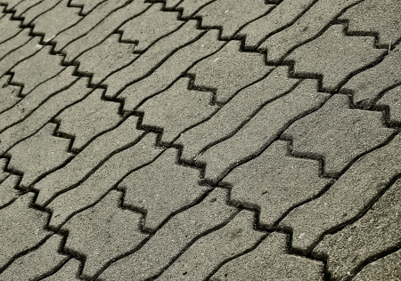 stone block pattern of walkway photo