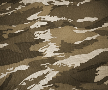 camouflage: uniform pattern of soldier for background Stock Photo