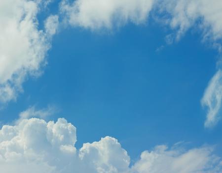 blue cloudy sky: cloudy frame in blue sky