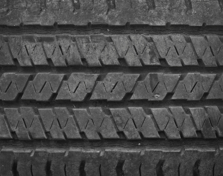 tyre tread: close up texture of old tire