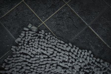 bathroom carpet on wet floor Zdjęcie Seryjne