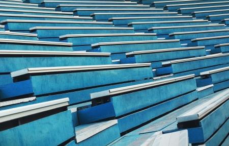 grandstand: patr�n de color azul tribuna asiento Foto de archivo