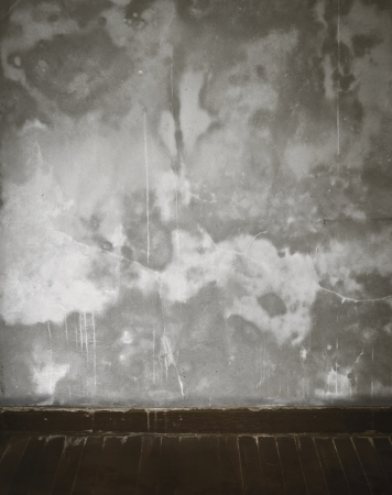 cement wall in old empty room photo