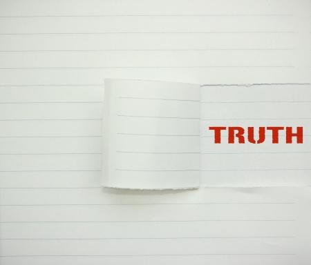 validez: palabra verdad en el papel Foto de archivo