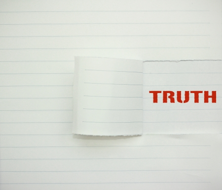 rectitude: truth word on the paper Stock Photo