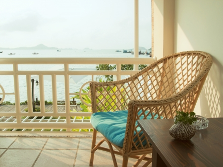 sea view on the balcony Stock Photo - 18270804