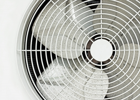 close up old white fan photo
