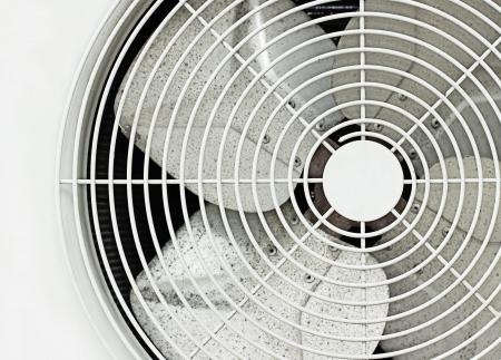 close up oude witte fan