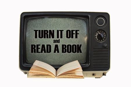 uitzetten tv en een boek lezen