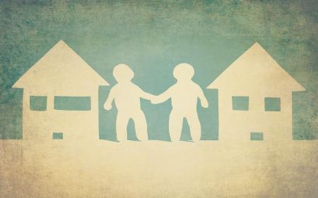 unity and friendship of neighbors Zdjęcie Seryjne