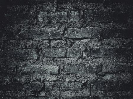 zwart en wit grunge bakstenen muur