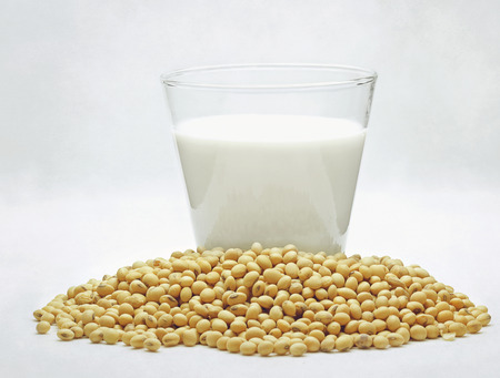 still life of soy milk with beans Stock Photo - 29460339