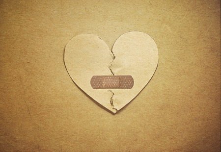 take care heart (paper vintage style)