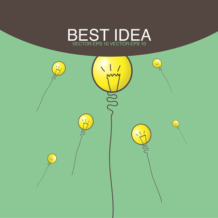 best idea: reaching of best idea concept Stock Photo