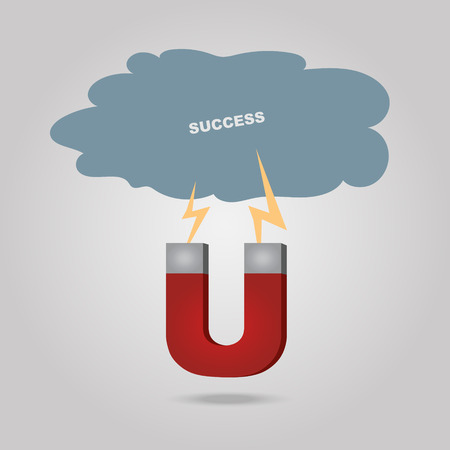 attract: a magnet to attract success cloud