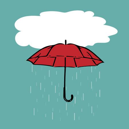 rain drop: rain drop from a red umbrella