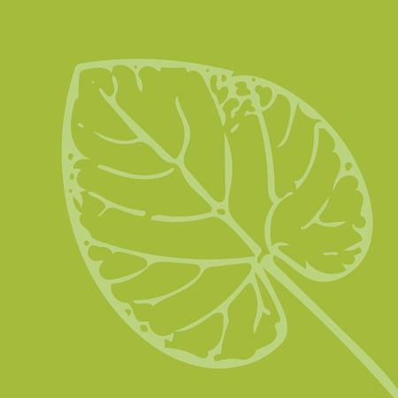vorm van een blad op groene achtergrond