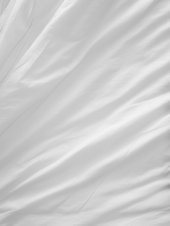 soft white bed sheets background Stock Photo