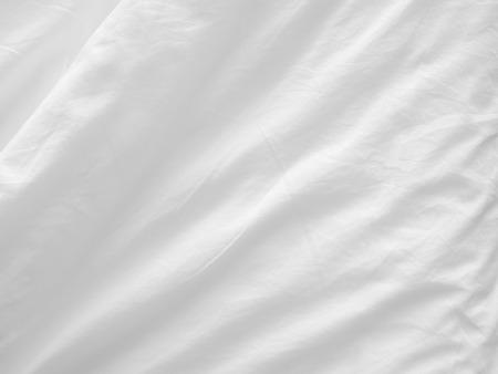 soft white bed sheets background Standard-Bild