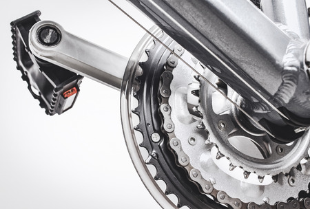 bicycle pedal: front gear system of bicycle and pedals
