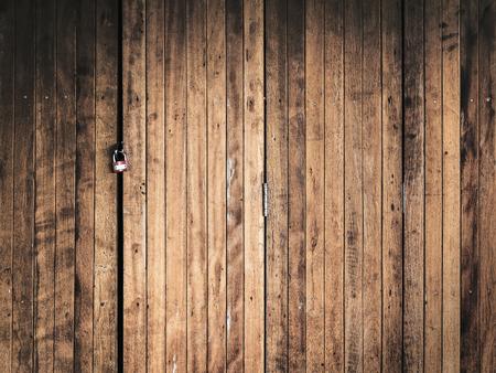 wood door: lock on old wood door