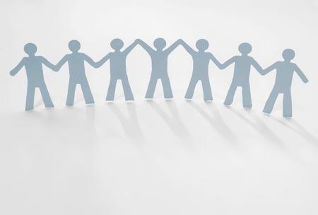 leadership in team (paper cut)