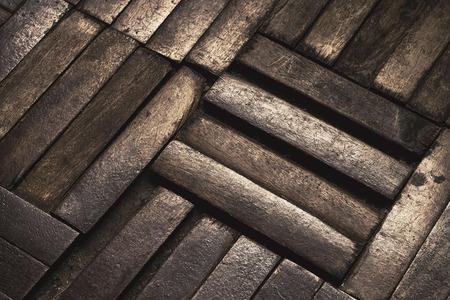 damaged: old parquet floor damaged