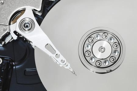 harddisk: inside of the computer harddisk Stock Photo