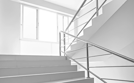 house windows: window light and stairs white background