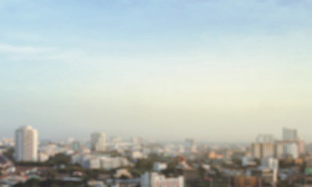 blur city and sky background