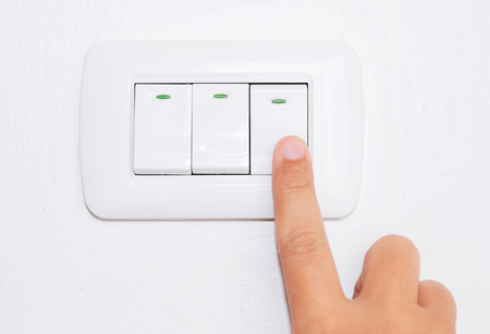 turn off light switch on the wall