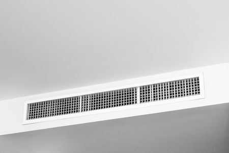 air conditioning vent on white ceiling