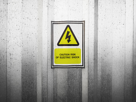 warning sign of electric shock Banque d'images - 120552669