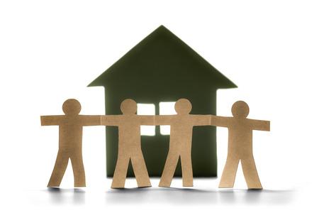 family members of house (paper cut) Imagens