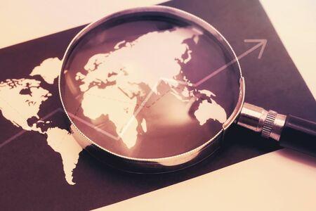 focus on world economy concept