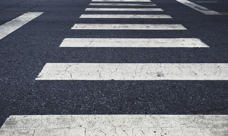 crosswalk lines for pedestrian on the road background