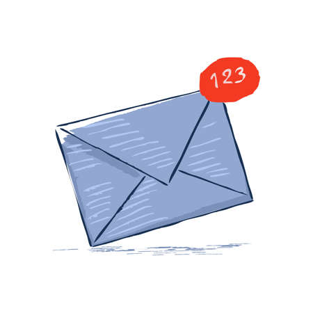 multiple mail messages in junk mailbox. unsubscribe or bulk deleting emails concept. vector illustration. Иллюстрация