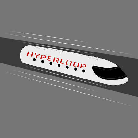 Hyperloop is a futuristic form of technology for high-speed passenger and cargo transportation 向量圖像