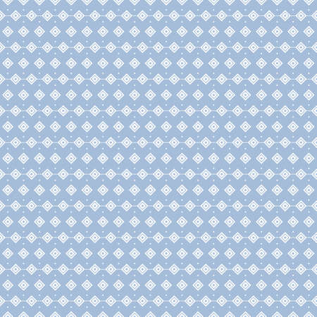 geometric seamless pattern. simple square line art design on blue background.