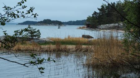 fishermen at work in finland Standard-Bild - 108395002