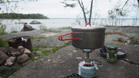 cooking outside in sweden